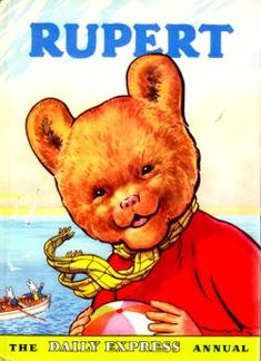 Rupert Annual 1959 written and illustrated by Alfred Bestall. Published by Daily Express. Bear Images, Ladybird Books, Paddington Bear, Childhood Memories, 1970s Childhood, Childhood Toys, Sweet Memories, Children's Book Illustration, Illustration Children