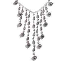 SUGAR by Gay Isber Hematite Sterling Silver Necklace (18-20 in) TGW 465.500 cts.