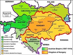 The Partition of Austria Hungary Historical Maps, Historical Pictures, Macedonia, Austria, Germany Poland, Austro Hungarian, World Geography, European History, Bratislava