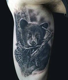 Man With Bear Claws Tattoos