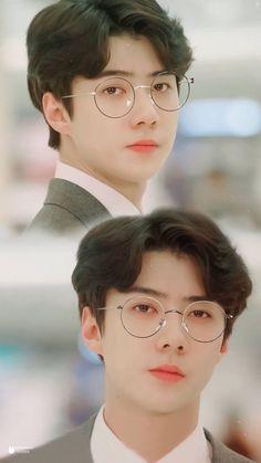 sehun with glasses so handsome ahh~ Baekhyun, Park Chanyeol, Kai, K Pop, Let You Go, Exo Music, Sehun Cute, Exo Official, Z Cam