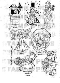 Iris Folding Patterns Free Printables | NEW 2009 Iris Folding Christmas Rubber Stamps Pg 29- Discount