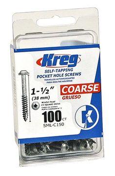 Kreg SML-C150-100  Pocket Screws 1-1/2-Inch, 8 Coarse, Wa...