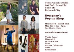 Pop up shop is OPEN! 🎉We're excited to be in Theia Grazi Clothing Co. Spring pop up shop from now until March 31st! 💗 Come by and shop our new SS17 collection plus women's clothing, jewelry, accessories and more from fabulous local designers!