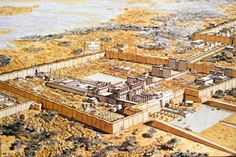 karnak temple reconstruction - Google Search Luxor Temple, Egypt Map, Pyramids Of Giza, Machu Picchu, Le Sphinx, Memphis, Egyptian Temple, Ancient History, Ancient Architecture