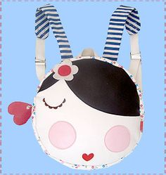 cloth-ears: retro 'doll face' back pack