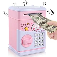 Buy New Kids Cartoon Electronic Money Bank,Yoego Security Piggy Bank Mini ATM Password Coins Money Savings Box Toys Smart Voice & Music Prompt,Code Lock for Children/Toy Gifts Birthday Gift (Pink rabbit) Little Girl Toys, Cool Toys For Girls, Gifts For Boys, Diy For Kids, Baby Girl Toys, Money Saving Box, Savings Box, Princess Toys, Pink Rabbit
