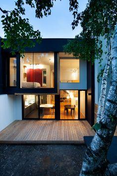 I post Interior Design & Exterior Architecture. Architecture Design, Residential Architecture, Style At Home, Exterior Design, Interior And Exterior, Casas Containers, Minimalist Home, Modern House Design, Home Fashion