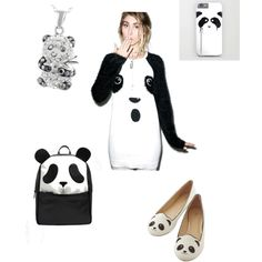 Panda by sydneymoore-1 on Polyvore featuring polyvore, fashion, style, MINKPINK and ASOS