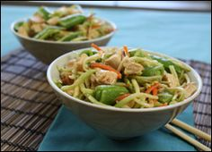 Spicy Thai-Style No-Cook Stir-Fry   PER SERVING (1/4th of recipe, about 1 1/2 cups): 165 calories, 3g fat, 440mg sodium, 14g carbs, 4g fiber, 7g sugars, 22g protein -- PointsPlus® value 4*