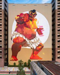 Street Art by Case Maclaim in Japan.