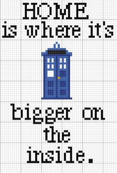 Doctor Who TARDIS Home Pattern by LupineLaneDesign