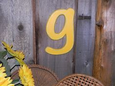 Distressed Wooden Letter g Wall Decor / by hensnesttreasures, $28.00