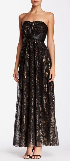 Hailey Adrianna Papell | Printed Chiffon Gown