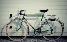 My other bike. A vintage Peugeot bicycle from the early 1970's. I found this bike hiding in the back of the shop I work at and asked the owner if I could have it as my first project bike, to which he kindly said yes. It was almost all original stock ( when I got it. It was missing the lighting system and the metal chain cover the bike in this picture has. I kept it as stock as possible. The bike is much too tall for me but I still ride it every now and then because it's such a smooth ride.