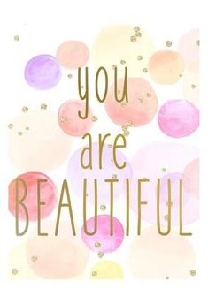 Art Print: You Are Beautiful Color by Kimberly Allen : 19x13in