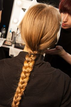 A nice clean braid tied with string could be a favourite thing!