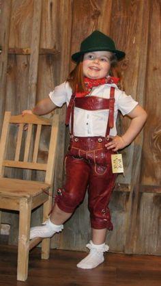 Maddox - Coole Mädchen #Kniebundlederhose, rot aus Glattleder