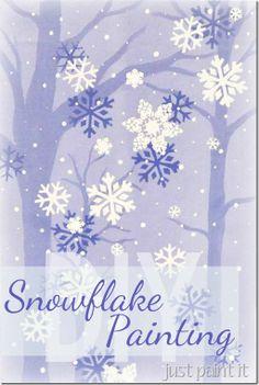 Easy Snowflake Painting