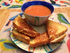 PERFECT FALL DINNER! Vegan Homemade Tomato Soup and Grilled Cheese Sandwiches - Daiya Cheese #vegan #veganrecipes #yummy #tomatosoup