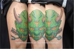 Bebeto Tattoo Studio - Hannya Tattoo - Mask Tattoo - Oriental -
