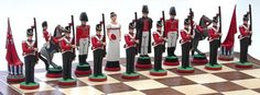 Battle of Waterloo Napoleon Chess Set 3d Chess, Chess Sets, Chess Set Unique, Battle Of Waterloo, Fun Games, Chess Boards, Napoleon, Prince, British