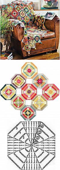 Transcendent Crochet a Solid Granny Square Ideas. Inconceivable Crochet a Solid Granny Square Ideas. Crochet Squares, Granny Square Crochet Pattern, Crochet Diagram, Crochet Stitches Patterns, Crochet Chart, Crochet Motif, Stitch Patterns, Crochet Granny, Granny Squares