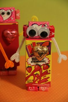 Robot Valentine- a cute Valentines surprise to stash in their lunch