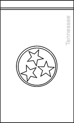 Tennessee State Flag Coloring Page PreK 5 Visual Art Center