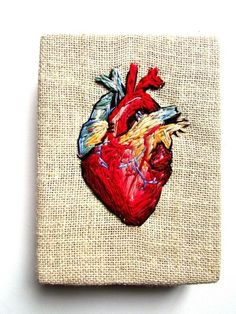 heart stitched