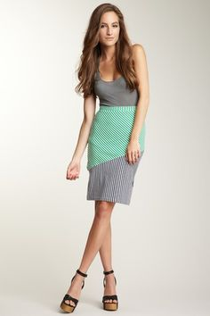 Lucca Couture Colorblock Stripe Skirt