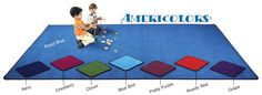 Flagship Carpets Americolors Carpet, 12 X 6 ft, Rectangle, 100% Nylon, Clover