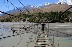 Puente Colgante de Hussaini, Pakistan