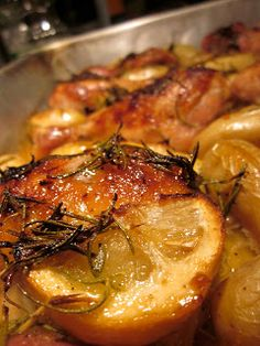 ... and sweet.: Honey, Lemon, and Rosemary Chicken Bake (with Potatoes