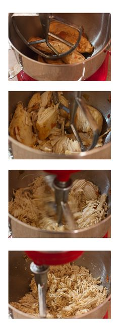 Shred chicken in your stand mixer in just a few seconds! - Complete success. Will do this again and again!