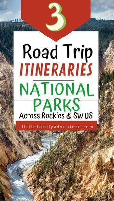 3 National Park Road Trips You'll Want to Take This Year across the Rocky Mountains and Southwestern US -There are 59 national parks across the US. It's hard to see them all, but here are 3 trips you can take to see 6 of the best US national parks Colorado National Parks, Us National Parks, Grand Teton National Park, Rocky Mountain National Park, Yellowstone National Park, Road Trip With Kids, Family Road Trips, Road Trip Usa, Travel With Kids
