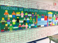 Leader In Me bulletin board idea -I made Lego people and Lego blocks out of construction paper and scrapbook paper.  Rockfield Elementary -Bowling Green, Ky
