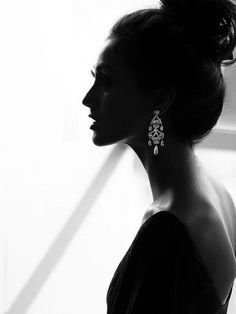 Beautiful silhouette, jewelry and photography
