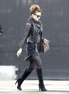Kate Beckinsale Leather Jacket - Leather Jacket Lookbook - StyleBistro