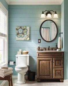 Small Bathroom Paint Ideas great window treatment idea for small bath; cafe style allows