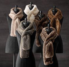 Luxe Faux Fur Scarf | Restoration Hardware