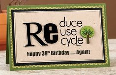 Reduce, Reuse, Recycle Card by @Layle Koncar