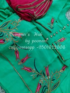 AARZOO KAUR✔ Punjabi Suit Boutique, Boutique Suits, Embroidery Suits Punjabi, Embroidery Dress, Designer Punjabi Suits, Indian Designer Wear, Kurta Designs, Blouse Designs, Indian Suits Punjabi