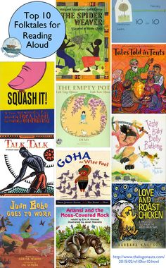 Top 10 Folktales for Reading Aloud  #nf10for10 | The LogonautsCollection of my favorite folktales for reading aloud to kids, including tales from Africa, Asia, the Middle East, Europe, and Latin America.