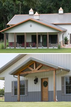 45 Durable & Beautiful Steel Homes That You Have To See - House Topics Steel homes are getting more and more popular, because a lot of people care not only about house exterior and interior design but construction too. Morton Building Homes, Steel Building Homes, Home Building Tips, Building A House, Building Ideas, Morton Homes, Residential Steel Buildings, Metal Buildings, Metal Barn Homes