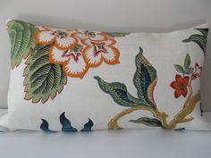 Schumacher Hot House Flowers Spark Decorative by PillowTimeGirls Modern Decorative Pillows, Decorative Pillow Covers, Throw Pillow Covers, Throw Pillows, Floral Pillows, Colorful Pillows, Different Flowers, Large Flowers, Pattern Design