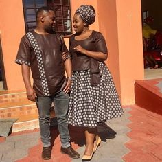 Photo by Nhlanhla Tinky on June Image may contain: one or more people and people standing Couples African Outfits, African Attire, Short African Dresses, African Fashion Dresses, Pedi Traditional Attire, Traditional Wedding, African Fashion Traditional, African Print Fashion, African Prints