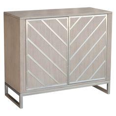 Modern Retro Style Chevron Door Chest - Grey - Pulaski - image 1 of 6 Chest Furniture, Furniture Deals, Gray Furniture, Wooden Furniture, Bedroom Furniture, Chevron Door, Dresser Refinish, Linen Cabinet, Retro Home Decor