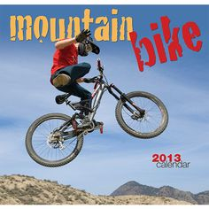 Mountain Biking Wall Calendar: Whether you enjoy extreme riding over steep hills or an invigorating ride over a gentler terrain, this collection of fast-paced, energetic mountain biking images are sure to please all year long!  $13.99  http://calendars.com/Cycling/Mountain-Biking-2013-Wall-Calendar/prod201300003214/?categoryId=cat00404=cat00404#