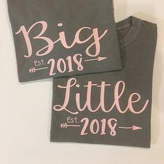 Big Little Shirts Sorority Reveal Comfort Color Big Little Sorority Shirts, Reveal Big Sis Lil Sis Gifts, Cheer Sister Gifts, Cheer Gifts, Big Little Sorority Shirts, Big Little Shirts, Big Little Week, Big Little Reveal, Big Little Basket, Dance Team Gifts